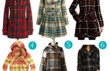 Plaid coats for Fall 2011