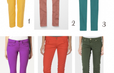 Colored denim in bright fall colors