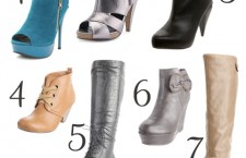 Fall Boots and Booties.  Under $50!