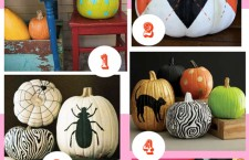 Painted pumpkins are simple to create, last longer, and are easily displayed indoors.