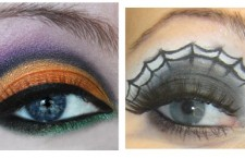 Orange eyes, makeupandthebee.com, spider eyes, wanelo.com (both via Pinterest)