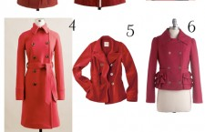Hot Red Coats for Cool Weather