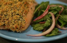 Herb crusted salmon.  Part of Evolution Catering's detox menu.  Mmmmm...