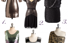 Dresses designed for New Years revelry.