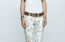 Floral pattern jeans.  Hmm.  Cute or too much like granny's curtains?