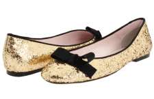 Twinkle Toes: Metallic Flats for Spring