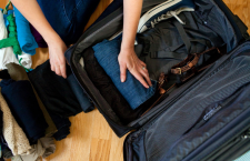 img: NYT - rolling (not folding) your clothes makes them smaller and easier to pack.