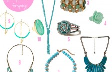 Ocean inspired jewelry is new for Spring