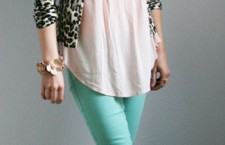 Mint jeans: Blank Denim, Cardi: Betsey Johnson. Top: Spence. All accessories: Target