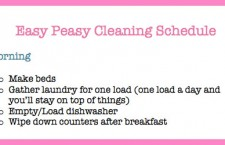 Make and Stick to a Cleaning Schedule