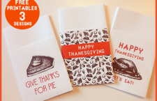 Thanksgiving Printable Place Setting/Utensil Holders
