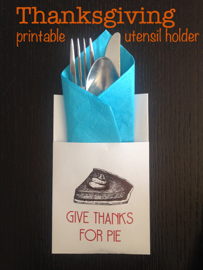thanksgiving printable place setting